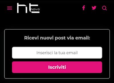 Iscrivetevi alla nuova Newsletter di HTNovo.net!