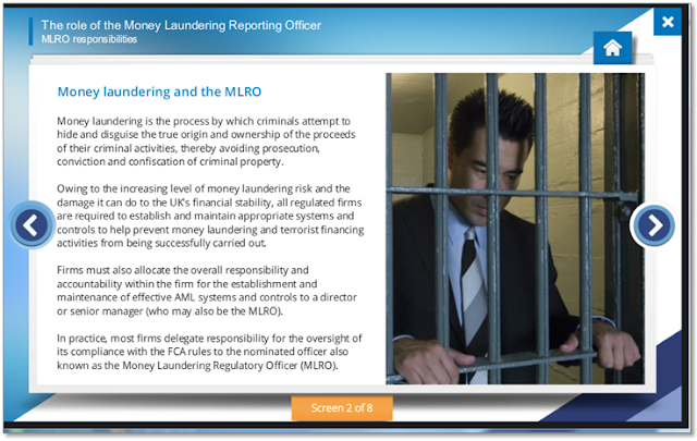 Screen showing a new section from the MRLO course