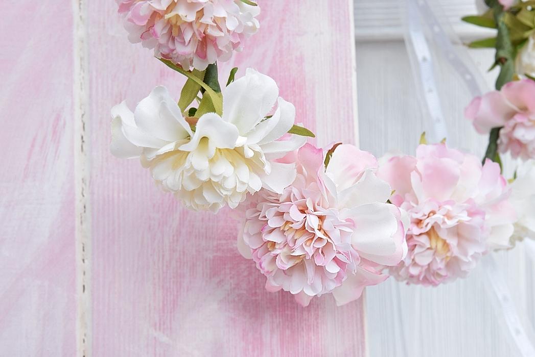 Blumenkranz für Hochzeit oder Sommerfeste selber machen.