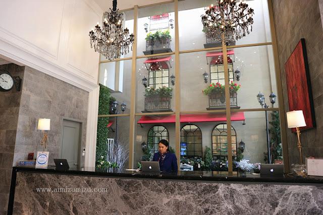 Suasana loby di hotel Ashley sabang Jakarta