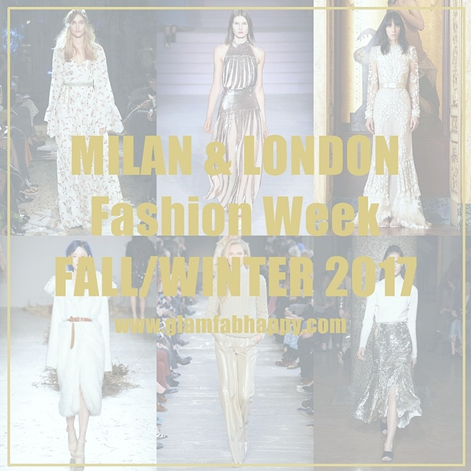 Instagram @lelazivanovic.Glam fab week.Best of Milan and London fashion week collections fall 2017.