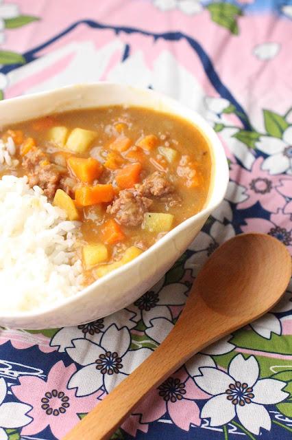 curry japonais boeuf et patate douce
