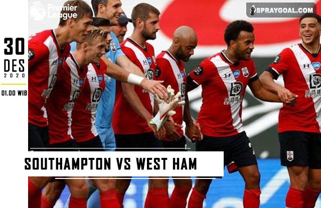 Prediksi Skor Southampton Vs West Ham 30 Desember 2020