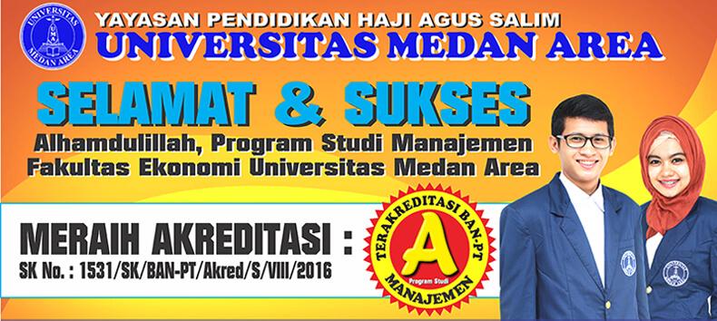 Prodi Manajemen Universitas Medan Area Raih Akreditasi A