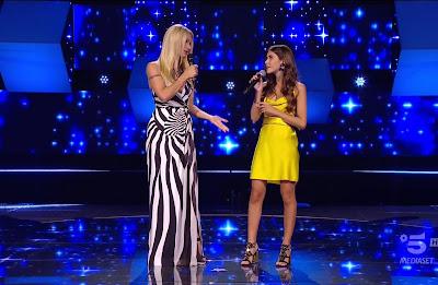 Michelle Hunziker Giorgia Rizza foto vestito giallo