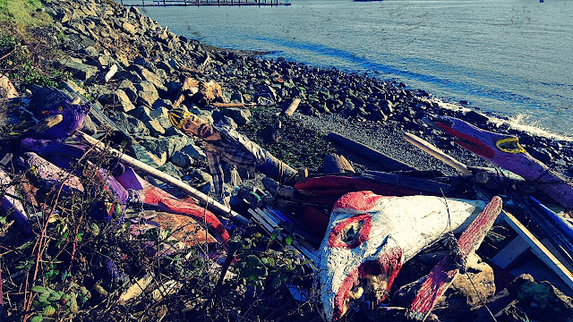 Colourful driftwood in search of restoration...