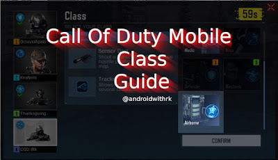 Call Of Duty Mobile Class Guide | androidwithrk
