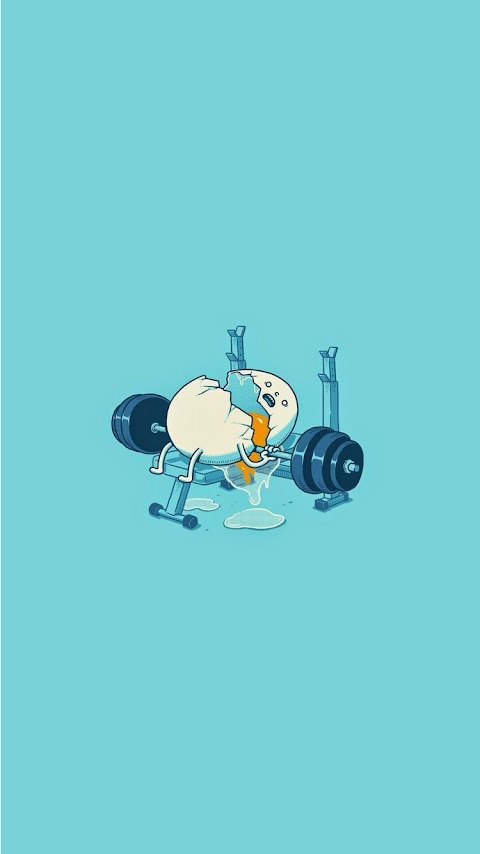 Hình Nền Cute Cho Điện Thoại Cảm Ứng Quả Trứng Tập Gym