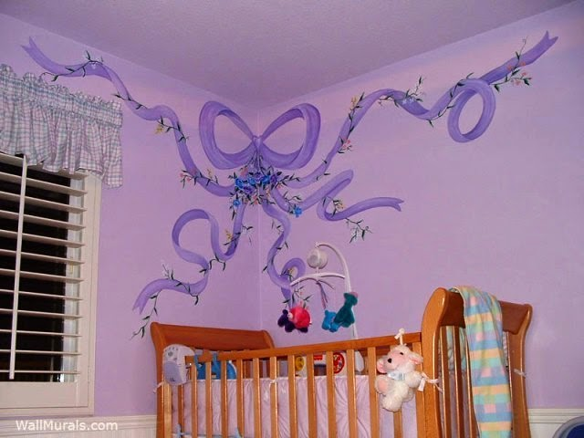 hand painted wall murals for nursery