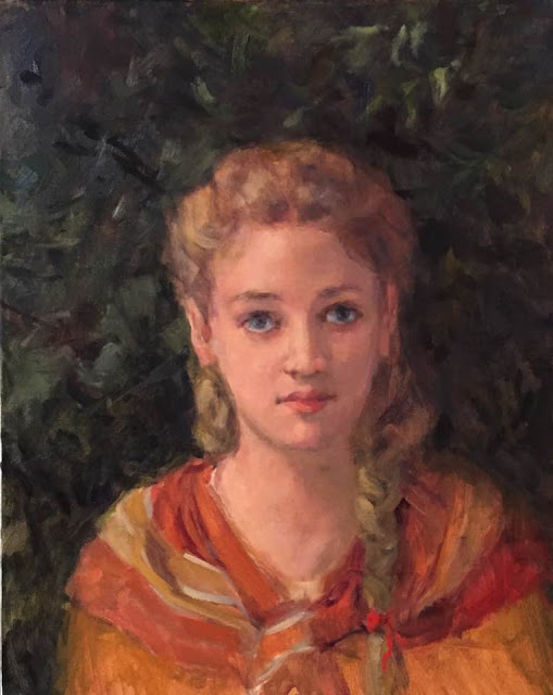 Bouguereau like Portrait by Margaret Aycock