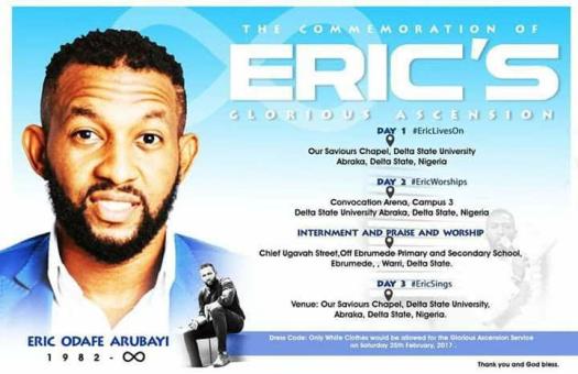Eric Arubayi, Gospel Singer, News, Obituary