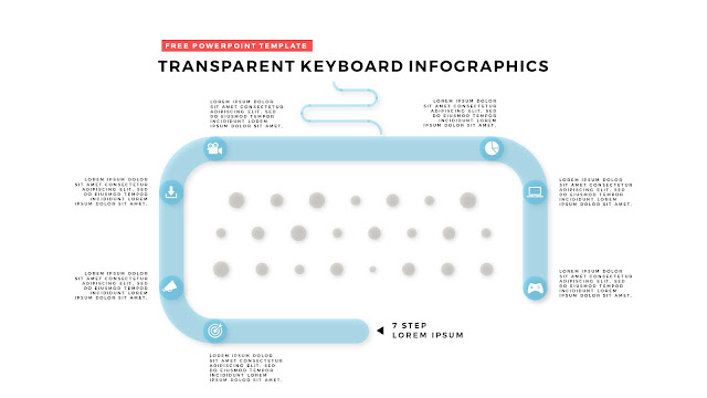 Free PowerPoint Design Elements with Transparent Keyboard Infographics Slide 11