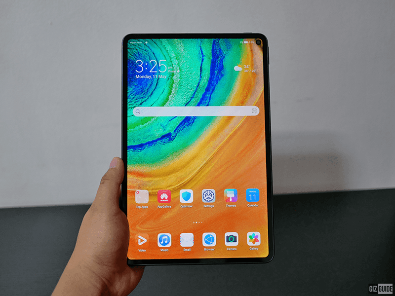 Yes, a tablet with a punch-hole for the front camera