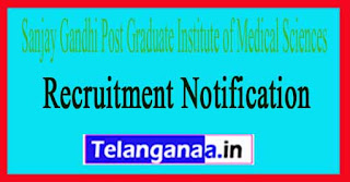 Sanjay Gandhi Post Graduate Institute of Medical Sciences SGPGI Recruitment Notification 2017