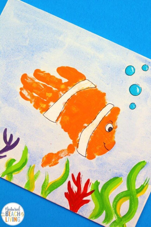 handprint fish under the sea craft