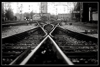 Vías del tren que se cruzan