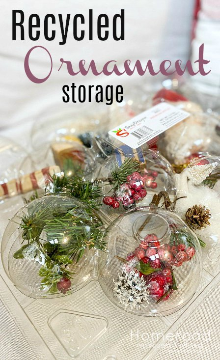ornament storage with overlay