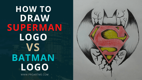 How to Draw Superman Logo Vs Batman Logo
