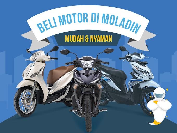 Kemudahan saat Beli Motor Kredit di Web Motor Moladin