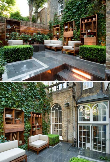 Decoraci n de jardines modernos en casas urbanas por - Jardines exteriores de casas modernas ...