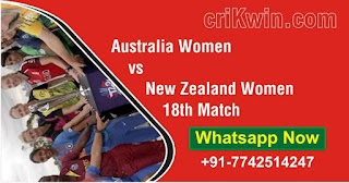 Who will win Today 18th match AUSW vs NZW Womens WC 2020