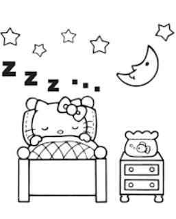 Gambar Mewarnai  Hello Kitty Tidur Wallpaper Sleeping Hello Kitty Cute Pics