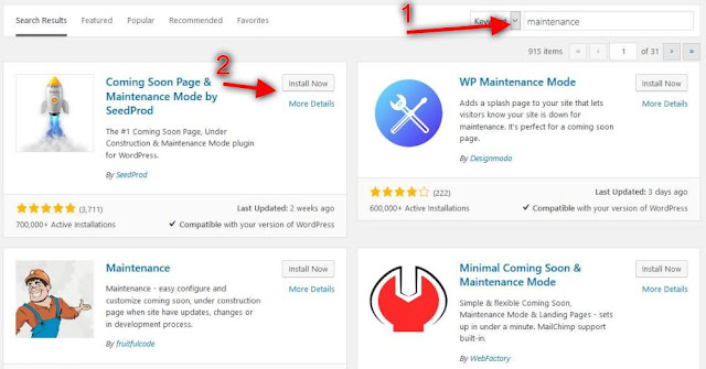 Cara Membuat Notifikasi Maintenance di Blog WordPress