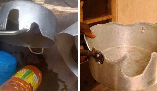 Twitter user shares pictures of his pots which was eaten by rats