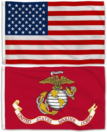 30% OFF   2 Pieces 3x5 USMC US Marine Corps Flag and American Flag