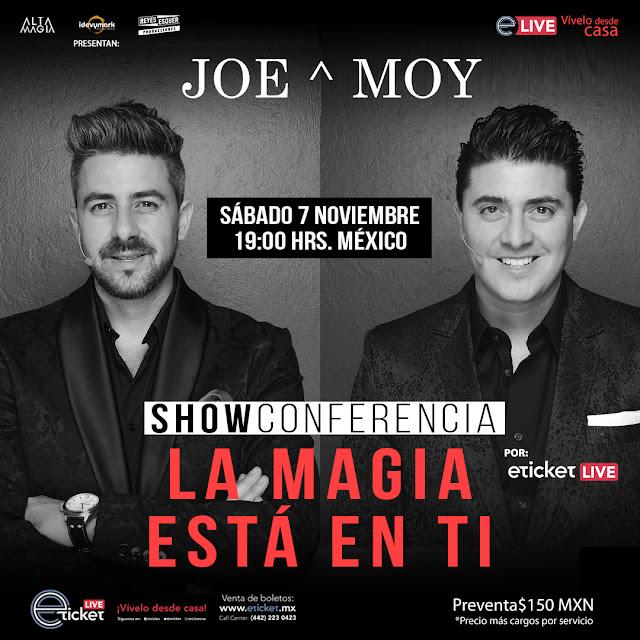"""Joe y Moy presenta un show conferencia """"La Magia Está En Ti"""" en streaming"""