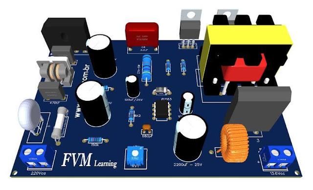 Fonte Chaveada SMPS 13.8V 10A com IR2153e IRF840  + PCI