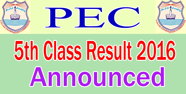PEC Results 38 districts of Punjab 2017 Updated PDF Results sheets.
