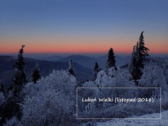 Luboń Wielki (1022 m n.p.m.) - początek Małego Szlaku Beskidzkiego
