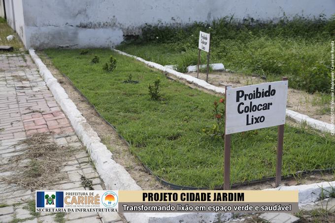 Iniciativa da 1ª Dama de Cariré transforma lixão em espaço verde e saudável para todos