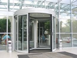 Automatic Glass Doors with a Revolving Principle of Operation
