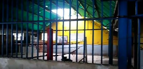 APURE: Denuncian mal estado del gimnasio 12 de febrero, robos a sus techos de Zinc y lámparas. VIDEO.