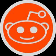 reddit button outline