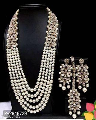 Kundan Pearl Jewellery Set