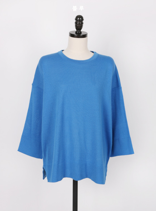 Bracelet-Length Sleeve Knit Top