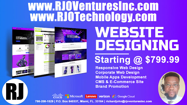Website Design Services; Web Development Services. (www.RJOVenturesInc.com)
