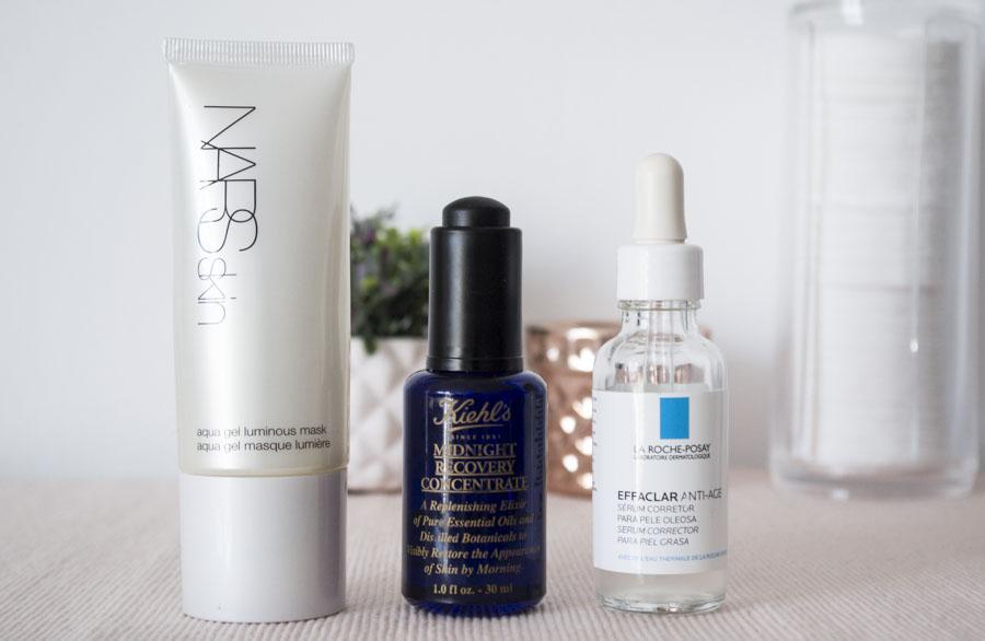 Productos de tratamiento adicional rutina de cuidado facial
