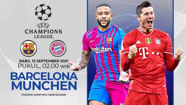 Link Live Streaming Liga Champions Barcelona vs Bayern Munchen