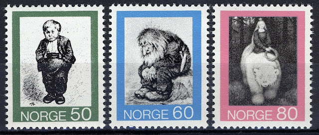 Norway 1972, Illustrations folk tales by Theodor Kittelsen