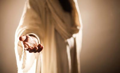 imagem da mão de Jesus Cristo (Compaixão)