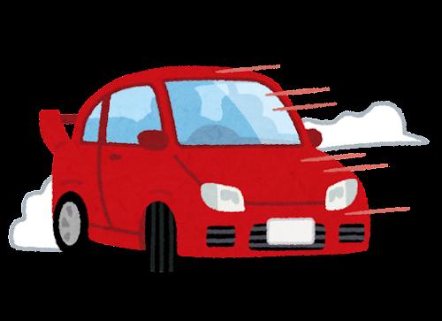 ドリフトをする自動車のイラスト
