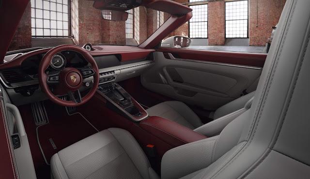 Porsche apresenta novo interior em couro bicolor elegante