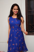 Pallavi Dora Actress in Sleeveless Blue Short dress at Prema Entha Madhuram Priyuraalu Antha Katinam teaser launch 071.jpg