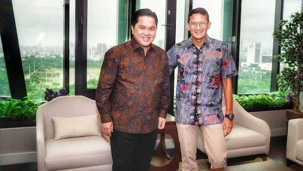 Sandiaga Beberkan Isi Pertemuan dengan Erick Thohir di BUMN