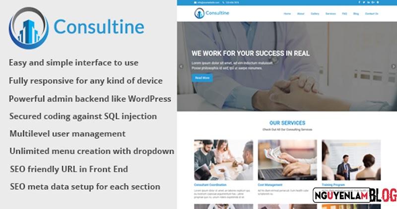 Consultine v1.6 - CMS Trang Web Tư Vấn, Kinh Doanh Và Tài Chính