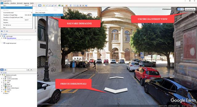 navigare su street view in google earth pro